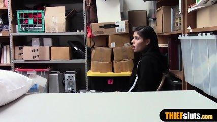 A horny mall santa fuck a latina shoplifter teen chick