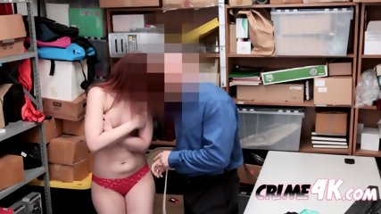 Innocent April gets her cunt demolished by horny officers big cock