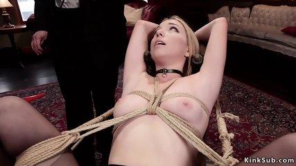 Master anal fucks two slaves at upper floor