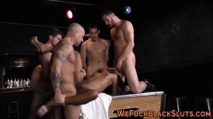 Black ho creamed in group