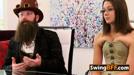 Unusual couple sucumbs to their horniest desires at the swing house
