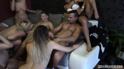 Group Of Horny Babes Ride Lucky Guys