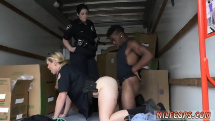 Rough blonde gets insatiable Milf cops humid and drilling on stolen goods.
