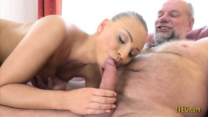 Beautiful Babe With Big Boobs Fucked by Old Guy