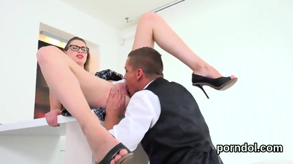 Pretty bookworm gets seduced and pounded by older teacher