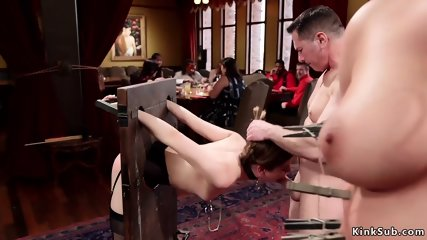 Anal sluts banging in different bondages