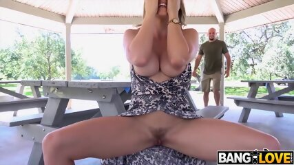 Cory Chase Her Big Tits Fucked in Park
