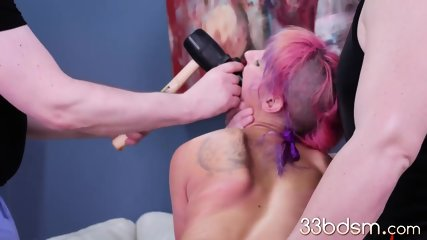 Extreme toys in her slaves asshole
