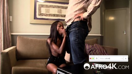 Can her skinny african ass survive his monster cock?