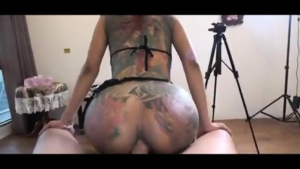 Thailand whore full of tatto fucking in the hotel room