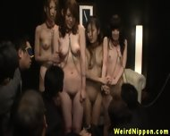 Restrained Asian Babes Get Manhandled
