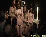 Restrained Asian Babes Get Manhandled