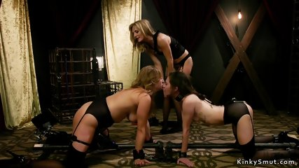 Hot lesbians caned and made squirting