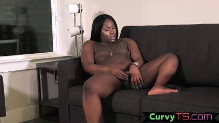Thicc black trans strips and masturbates