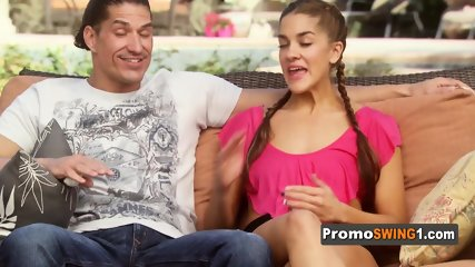 Nina and Andres are ready to fulfill their fantasies at the swing house