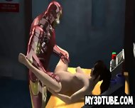 3d Cartoon Brunette Babe Getting Fucked By Iron Man