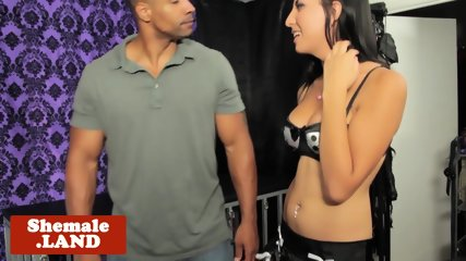 Trans goddess ass toyed before doggystyled