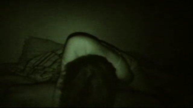 Amateur couple fucks at night