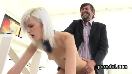 Ideal schoolgirl is seduced and rode by senior instructor