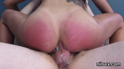 Sexy cutie is taken in butthole assylum for painful therapy