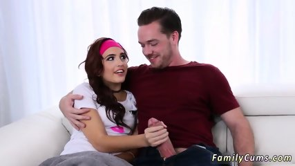 Teen creampie and facial tutor seduces student Scary Movies With Stepbro