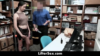 Hot Teen Gets Fucked By Security Guard For Shoplifting