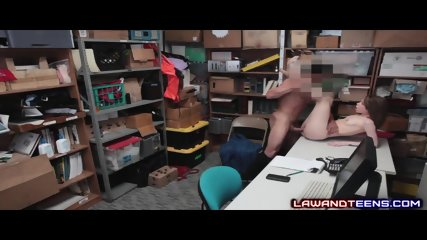 Perverted Officer Cums On Teen Thief!