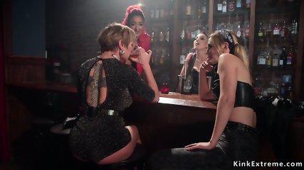 Three lesbians anal fucking blonde