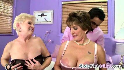 Horny Grannies Share a Big Cock