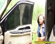 Real Hitchhiking Nubian Handles Drivers Dick