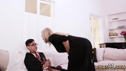 Chad white milf and blonde striptease in public Brandi Love answers the door and lets