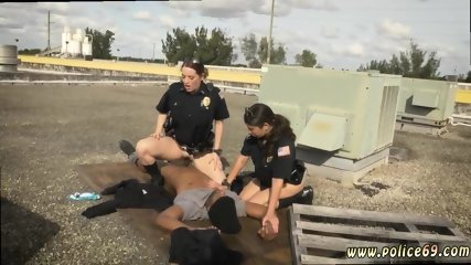 Milf breast feeding and hot cop big tits hd Break-In Attempt Suspect has to ravage his