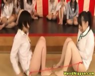 Oriental Office Babes Get Pussies Toyed