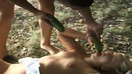 Couple having fun in the woods - scene 7