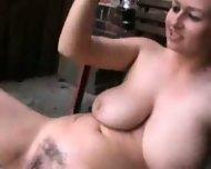 Busty Chick loves to fuck a Bottle - scene 8