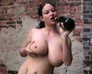 Busty Chick loves to fuck a Bottle - scene 9