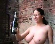 Busty Chick loves to fuck a Bottle - scene 7