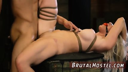 First rough anal cry and bondage fuck squirt xxx Big-breasted platinum-blonde sweetheart