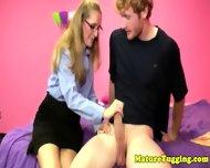 Cougar Spex Milf Tugging Cock In Pov - scene 2