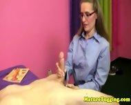 Cougar Spex Milf Tugging Cock In Pov - scene 3