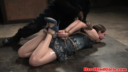 Drooling Slave Bound And Toyed On The Floor - scene 4