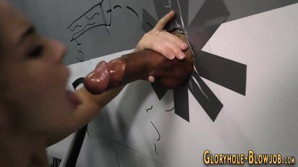 Ho gulps gloryhole jizz