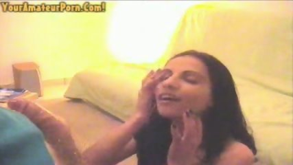 Hot cumshot in the face