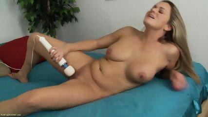 Mature Blonde Stimulates Pussy