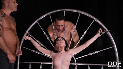 Two Guys Fuck Lady In Bondage - scene 2