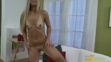 Horny Blondie Enjoys Dildo Fucking