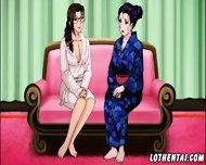Sexy Hentai Lesbian In Photostudio