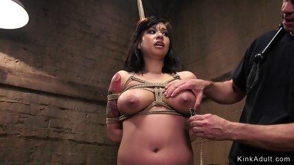 Busty trainee hard anal banged training