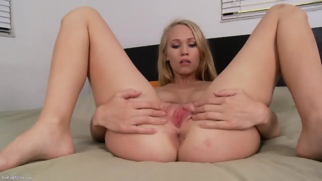 Pink Hole Of Charming Blonde