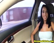 Stranded Latina Facialized By Driver